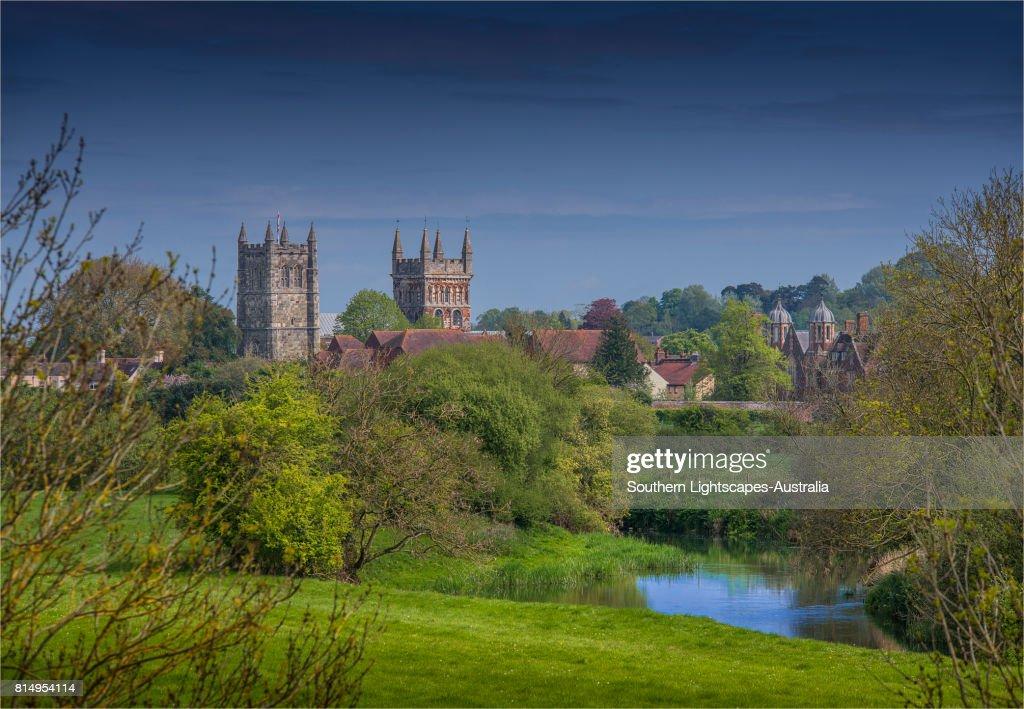 A view to Wimborne Minster, Dorset, England, United Kingdom : Stock Photo