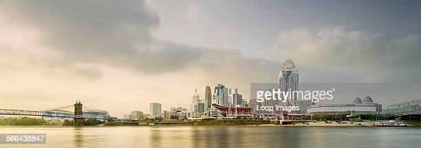 A view toward the Cincinnati skyline