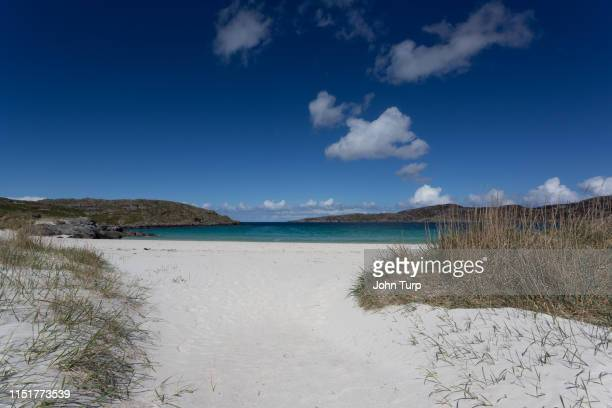 View towards Achmelvich Bay on the north west coast of Scotland