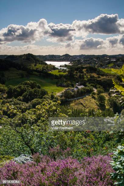 view towards egersund. - egersund stock photos and pictures