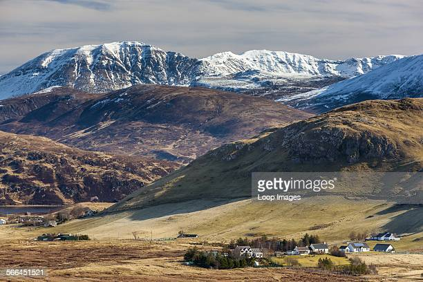 A view towards Elphin in the Sutherland area of Highland