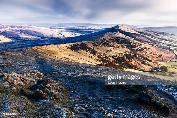 A view towards Mam Tor in the Peak District National Park
