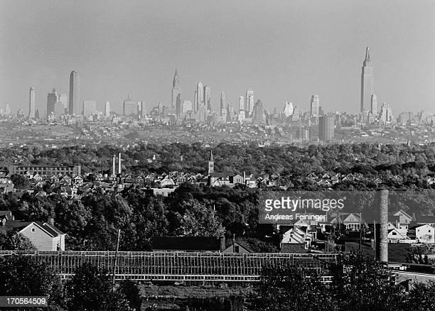 A view towards New York City circa 1950