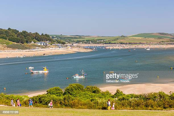 View towards Rock village looking from Padstow, Camel Estuary, North Cornwall, England, United Kingdom, Europe