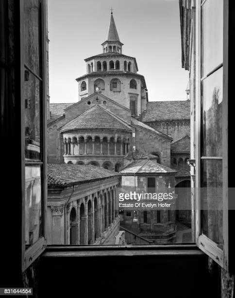 View towards Santa Maria Maggiore Bergamo 1977
