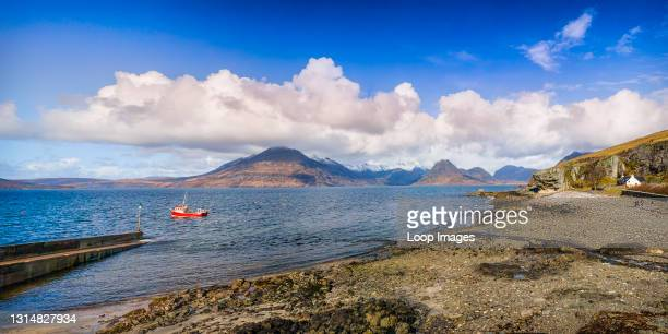 View towards the Black Cuillins from Elgol on Isle of Skye.