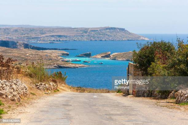 View towards the Blue Lagoon on Comino, Malta