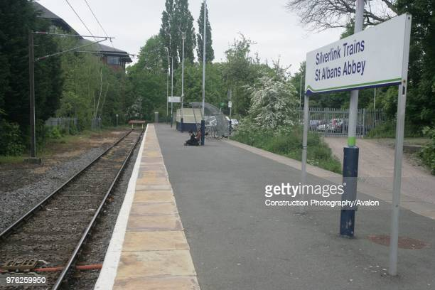 View towards the buffer stops at St Albans Abbey station Hertfordshire 3rd May 2007