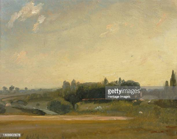 View Towards the Rectory, East Bergholt;View at East Bergholt;East Bergholt Rectory, 1813. Artist John Constable. .
