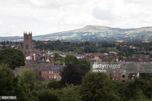 View towards the town of Ludlow and the parish church of St Laurence's Ludlow is a market town in Shropshire England With a population of...