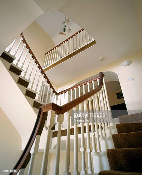view up restored staircase of ballynascreen glebe - majestic stock pictures, royalty-free photos & images