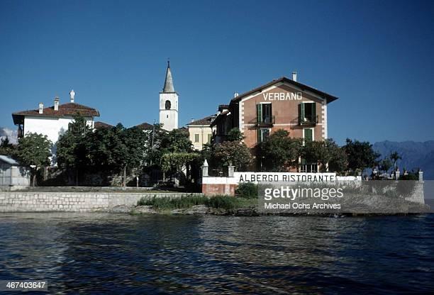View Verbano hotel on Lake Maggiore in Stresa, Italy.