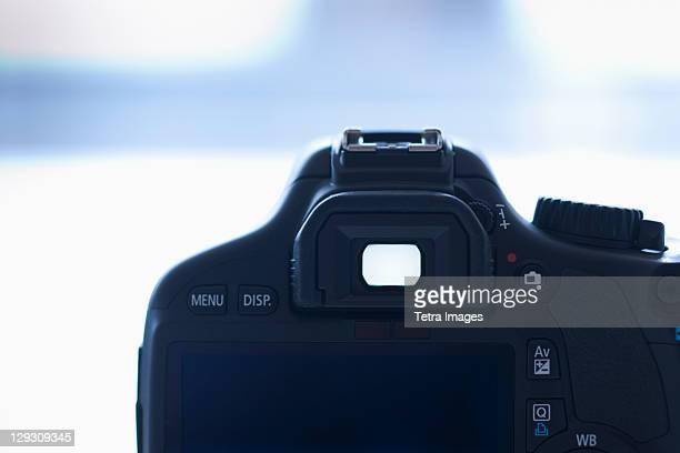 viewfinder of digital slr camera - digital viewfinder stockfoto's en -beelden