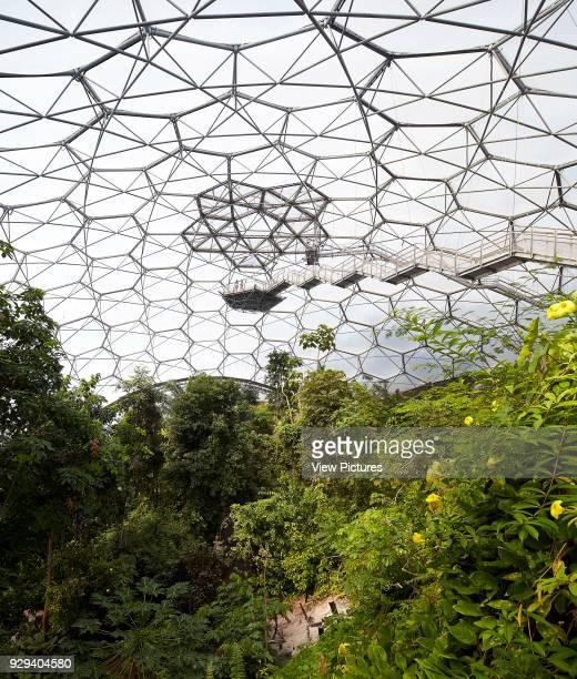 Viewing platform and biome's roof structurwe Eden Project Bodelva United Kingdom Architect Grimshaw 2016