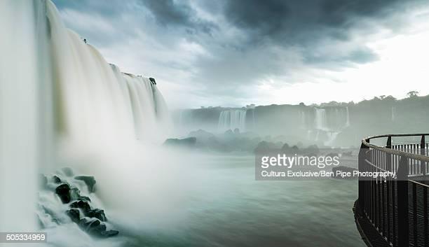 Viewing platform at Iguazu falls, Parana, Brazil