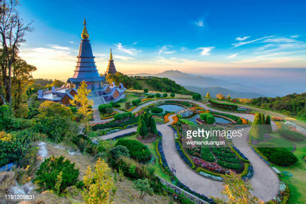 viewpoint doi inthanon at chiang mai,thailand - thailand stock-fotos und bilder