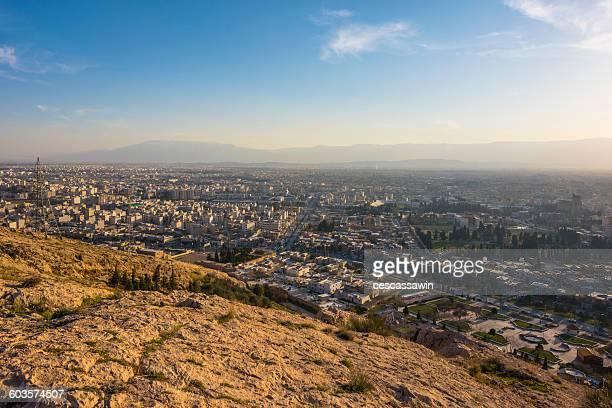 viewpoint of shiraz, iran - shiraz stock photos and pictures