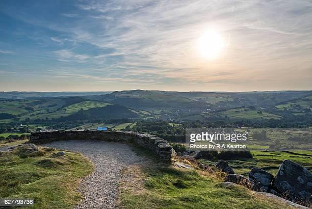 Viewpoint on Baslow Edge, Peak District, Derbyshire