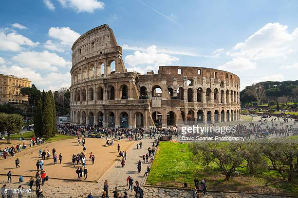A viewpoint over the Colosseum in Rome, Italy