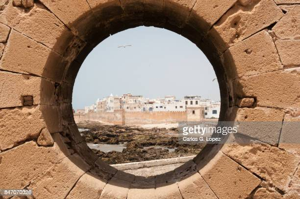 Viewpoint through a hole in the wall