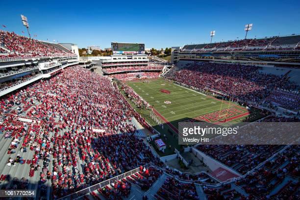 Views around Donald W. Reynolds Stadium of the Arkansas Razorbacks before a game against the Vanderbilt Commodores at Razorback Stadium on October...