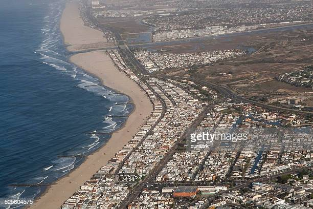 views from an aeroplane window - john wayne airport stock pictures, royalty-free photos & images