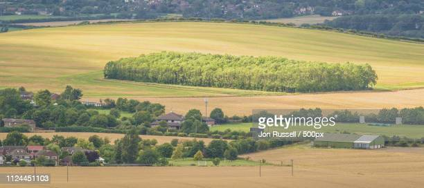 views from dunstable downs - posbank ストックフォトと画像