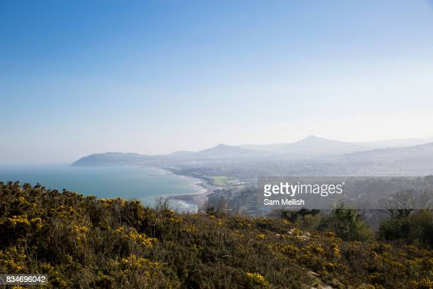 Views from Killiney Hill Park overlooking Whiterock Beach on 08th April 2017 in County Dublin Republic of Ireland Killiney Hill is the southernmost...