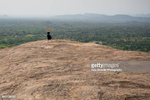 views from pidurangala rock, sri lanka - sigiriya stock photos and pictures