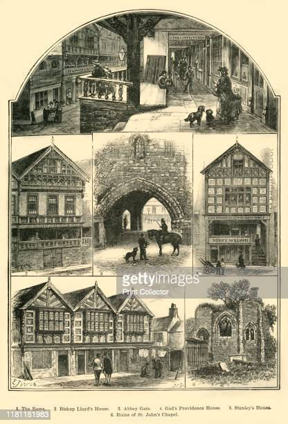 Views in Chester' 1898 Inclusing Abbey Gate Chester Rows and the ruins of St Johns Chapel Chester is one of the bestpreserved walled cities in...