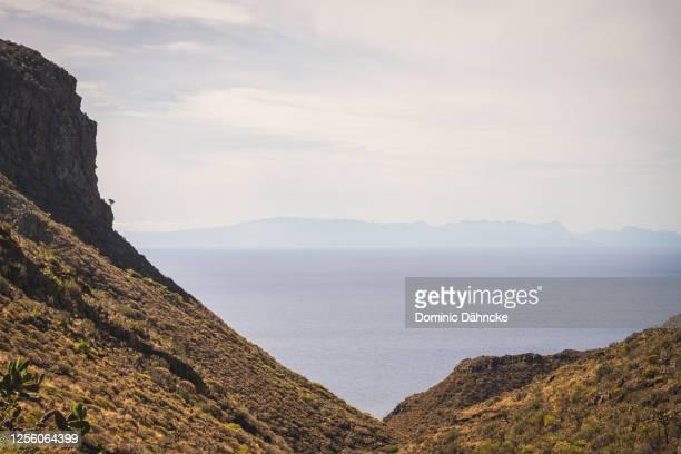 views of anaga mountains, in tenerife island (canary islands, spain) - dähncke fotografías e imágenes de stock