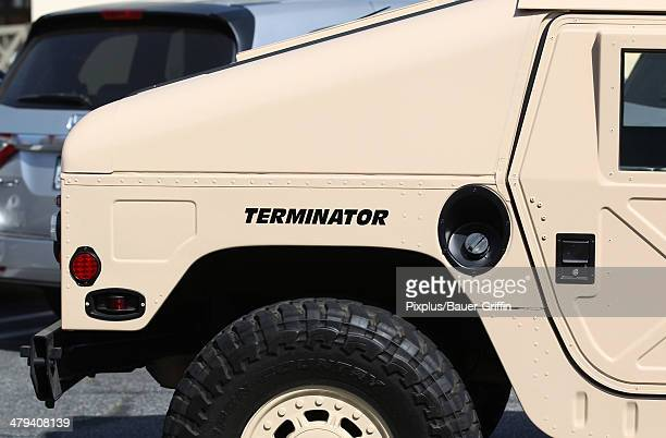 Views of Arnold Schwarzenegger's custom Hummer on March 17 2014 in Los Angeles California