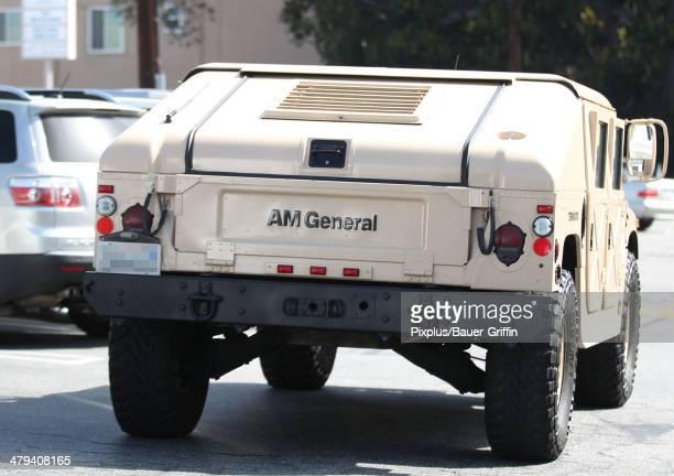 Views of Arnold Schwarzenegger's custom Hummer on March 17 2014 in Los Angeles California