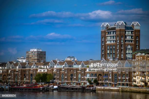 views of battersea from chelsea and kensington, riverside - london the evolving riverside capital of the world - battersea stock pictures, royalty-free photos & images