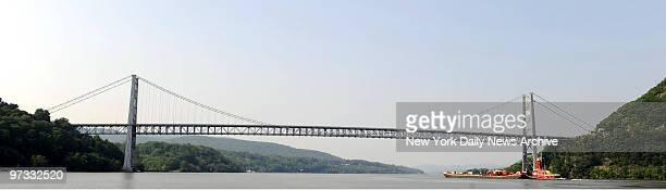 Views of Bear Mountain Bridge in upstate New York spanning the Hudson River