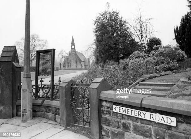 Views of Bingley Cemetery where Peter Sutcliffe worked, 29th January 1981.