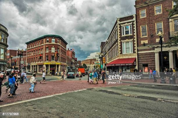 views of cambridge massachusetts - cambridge massachusetts stock pictures, royalty-free photos & images