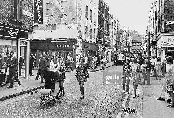 Views of Carnaby Street of London England 7/20/1967