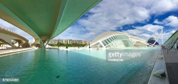 Views of City of Arts and Sciences of Valencia