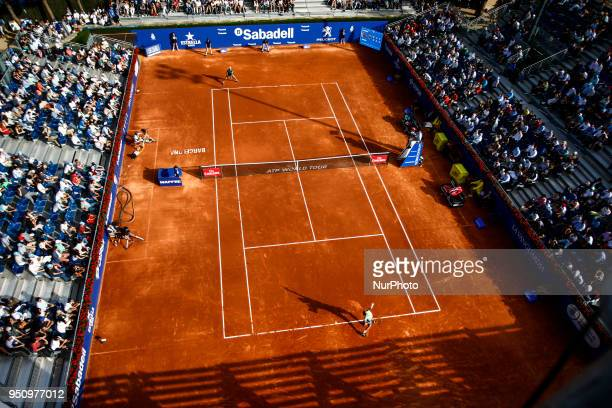 Views of court 2 at the Jaume Munar from Spain vs Joao Sousa from Portugal match during the Barcelona Open Banc Sabadell 66 Trofeo Conde de Godo at...