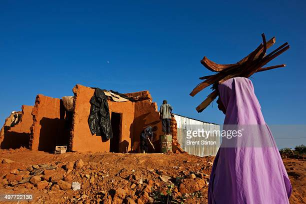 Views of flood destroyed Tuareg housing on September 29 2009 in Agadez Niger Many Tuareg moved to Agadez to escape the drought of the seventies...