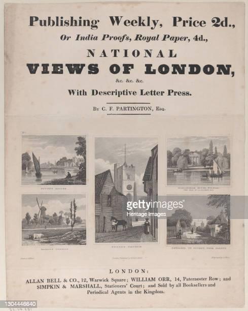 Views of London, 19th century. Artist John Shury, H. West.