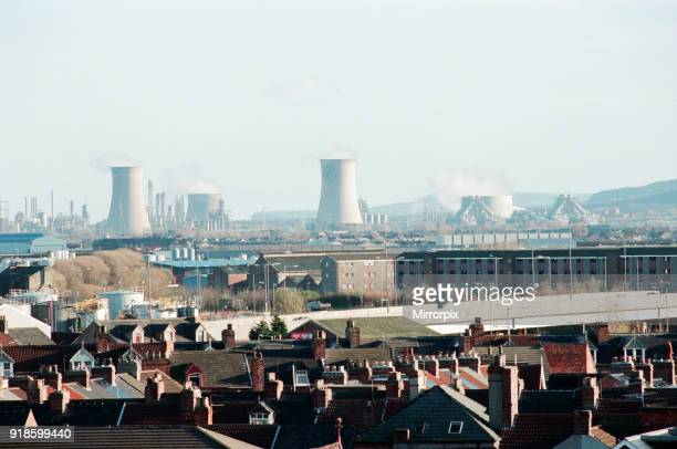 Views of Middlesbrough 8th December 1994 Looking across the A66 towards ICI and the Enron plant far right