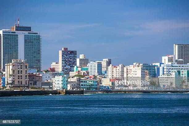 Views of New Havana from the Malecon.