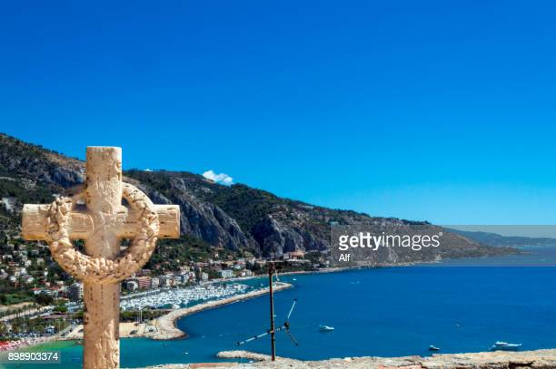 Views of the coast from the Menton Cemetery, French Riviera, France
