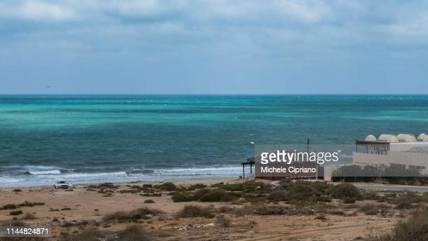 views of the coast of southern tunisia - coastline stock pictures, royalty-free photos & images