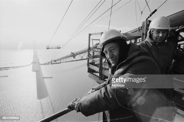 Views of the construction of The Humber Bridge at Hull 27th August 1980