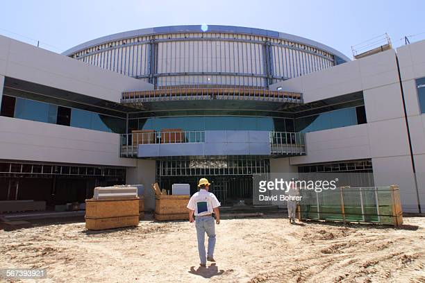 Views of the construction of the Minimed Inc. Headquarters building being constructed on leased land on the north end of Cal State Northridge at...