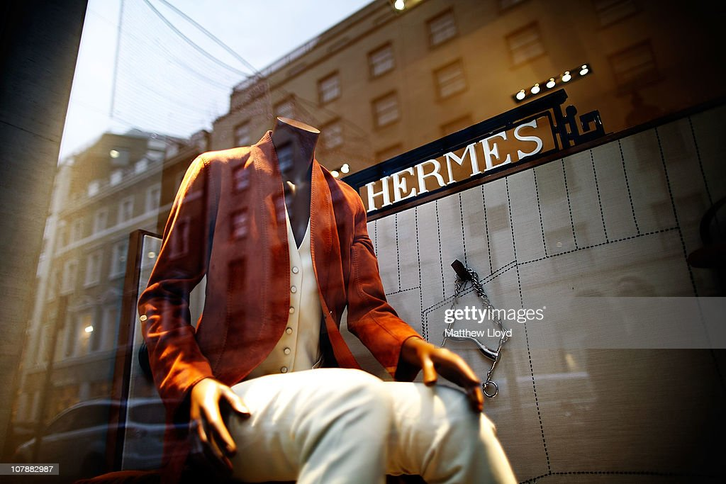 Views of the Hermes luxury goods shop on New Bond Street on January 5, 2011 in London, England. Hermes is currently trying to fight a takeover by LVMH Moet Hennessy Louis Vuitton.