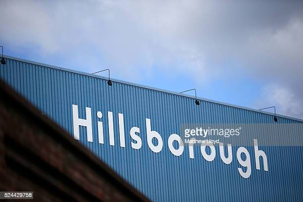 Views of the Hillsborough stadium on April 26 2016 in Sheffield England The fresh inquests into the 1989 Hillsborough disaster in which 96 football...